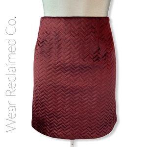 NWT BLACK TAPE Herringbone Quilted Skirt